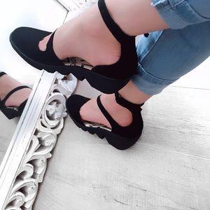 Fly London leather platform sandals